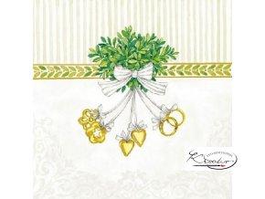 Ubrousek 33 x 33 cm / 20 ks - Wedding symbols