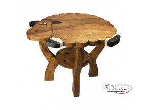 Dřevěný stolek - Ovečka