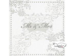 Ubrousek 33 x 33 cm /16 ks - Mr. & Mrs. silver
