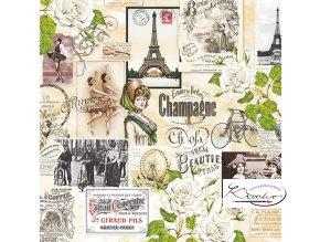 Ubrousek 33 x 33 cm / 20 ks - Vintage Collage Paris
