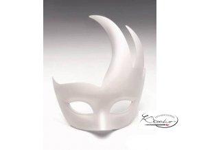 Maska karnevalová 16,5 cm - Flamme