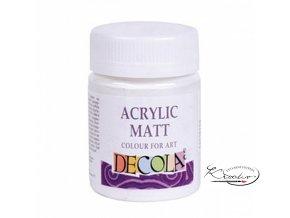 Akrylová barva Decola Matt 50 ml - bílá