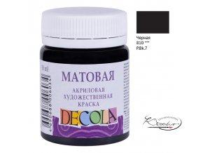 Akrylová barva Decola Matt 50 ml - černá