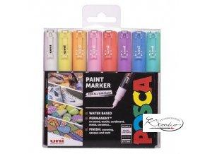 Sada akrylových popisovačů POSCA Pastel 8uni pc 1m posca sada akrylovych popisovacu 0 7 1 mm 8 ks mix pastelovych barev
