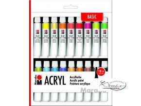 Akrylové barvy Marabu Basic 18 x 12 mlb41c90d47e2693dead752b17ea4241f88e40ed80