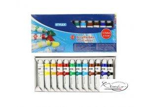 Akrylové barvy Stylex 12 x 12 ml55 40 00 e330207