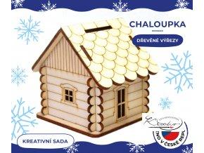 Dřevěné výřezy - Chaloupka pokladnička 6 cm