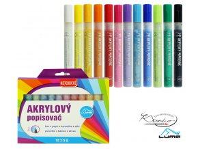 Akrylové popisovače Luma 12 - základní barvy