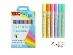 Akrylové popisovače Luma 6 - pastelové barvy