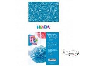 Hedvábný papír 50x70 cm 20g - modrý Ornamenty