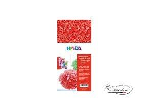 Hedvábný papír 50x70 cm 20g - červený Ornamenty