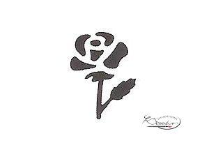 Děrovač červený 15mm - růže