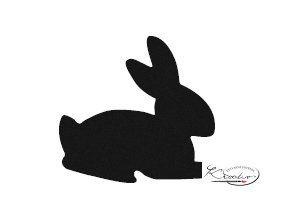 Děrovač červený 15mm - králík