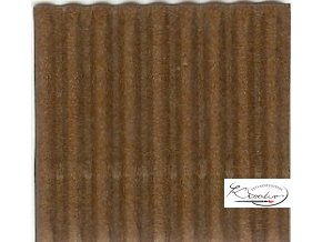 Karton 50x70 cm 300g vlnitý  hnědý