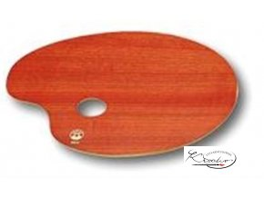 Paleta malířská dřevěná 24x18cm