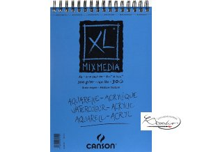 Blok XL mix média Canson A4 kroužková vazba