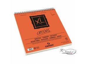 Blok XL CROQUIS sketch 30x30cm kroužková vazba