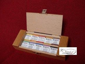 Set akvarelových barev v dřevěné kazetě 10ks