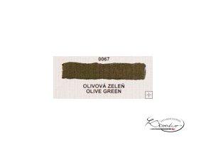 Olejová barva č. 0067 olivová zeleň 20ml