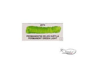 Olejová barva č. 0074 permanentní zeleň světlá 20ml