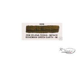Olejová barva č. 0058 zem zelená česká imit. 20ml