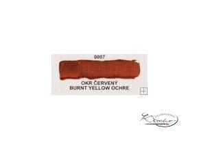 Olejová barva č. 0007 okr červený 20ml
