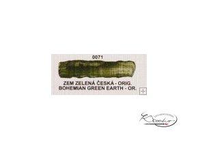 Olejová barva č. 0071 zem zelená česká orig. 20ml
