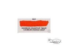 Olejová barva č. 0021 kadmium oranžové tmavé 20ml