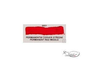 Olejová barva č. 0051 permanentní červeň střední 20ml