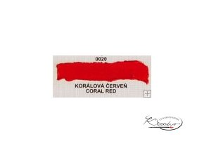 Olejová barva č. 0020 korálová červeň 20ml