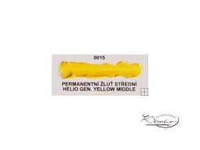 Olejová barva č. 0015 permanentní žluť střední 20ml