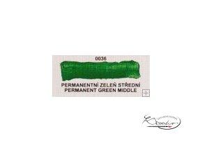 Olejová barva č. 0036 permanentní zeleň střední 20ml