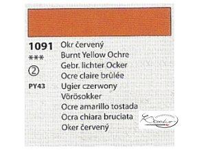 Tempera Umton 35 ml - 1091 Okr červený