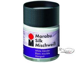 Silk Marabu č. 202 Míchací bílá barva na hedvábí 50ml