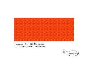 Silk Marabu č. 023 Orange red barva na hedvábí 50ml