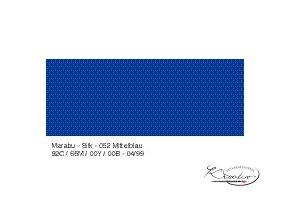 Silk Marabu č. 052 Medium blue barva na hedvábí 50ml