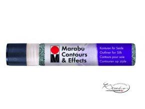 Contours Effects č.579 Antracit Glitter kontura na hedvábí 25ml