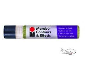 Contours Effects č. 563 Glitter green kontura na hedvábí 25ml