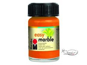 Mramorovací barva easy marble 15ml 013 oranžová