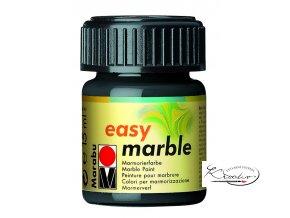 Mramorovací barva easy marble 15ml 073 černá