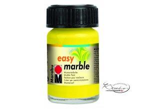 Mramorovací barva easy marble 15ml 020 žlutá citronová