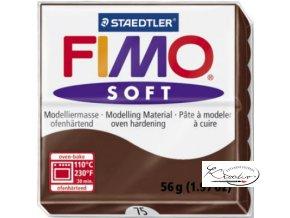 FIMO Soft 56g 75 čokoládová