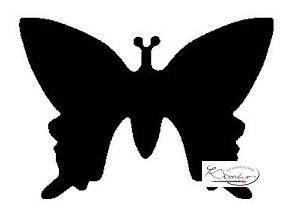 Výsekový strojek 22mm plný - Motýl