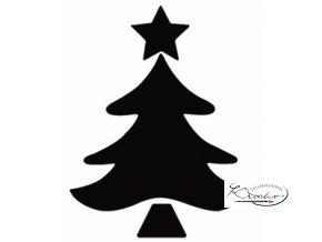 Děrovač modrý 22mm plný - Stromek vánoční