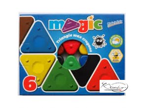Magic Triangle wax crayon 6