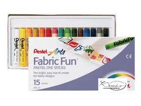 Fabric fun Voskovky na textil 15 odstínů