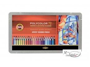 POLYCOLOR Souprava uměleckých pastelek 72