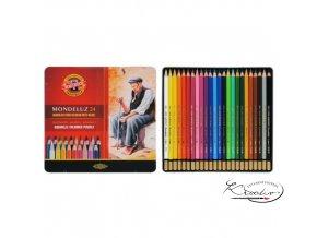 MONDELUZ souprava akvarelových pastelek 24