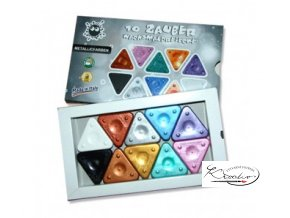 Magic Triangle wax crayon 10 metalic