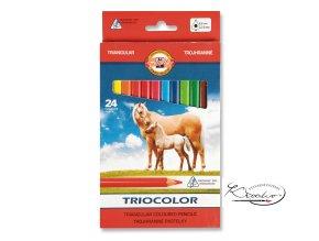 Triocolor pastelky 24 barev